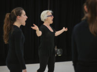 Living Legacy Artist, Ann Carlson, works with FSU School of Dance students during her Fall 2016 MANCC residency. Photo: Chris Cameron